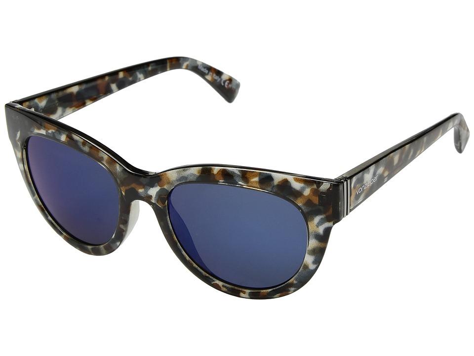 VonZipper Queenie (Quartz Tort/Blue Chrome) Sport Sunglasses