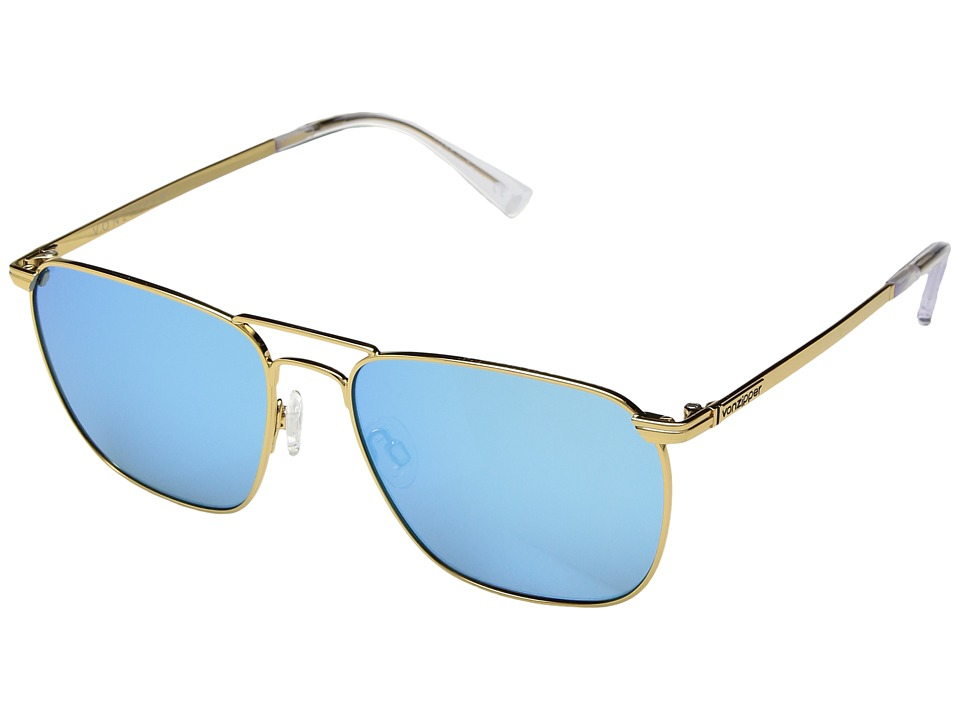 VonZipper League (Gold Gloss/Blue Chrome) Sport Sunglasses