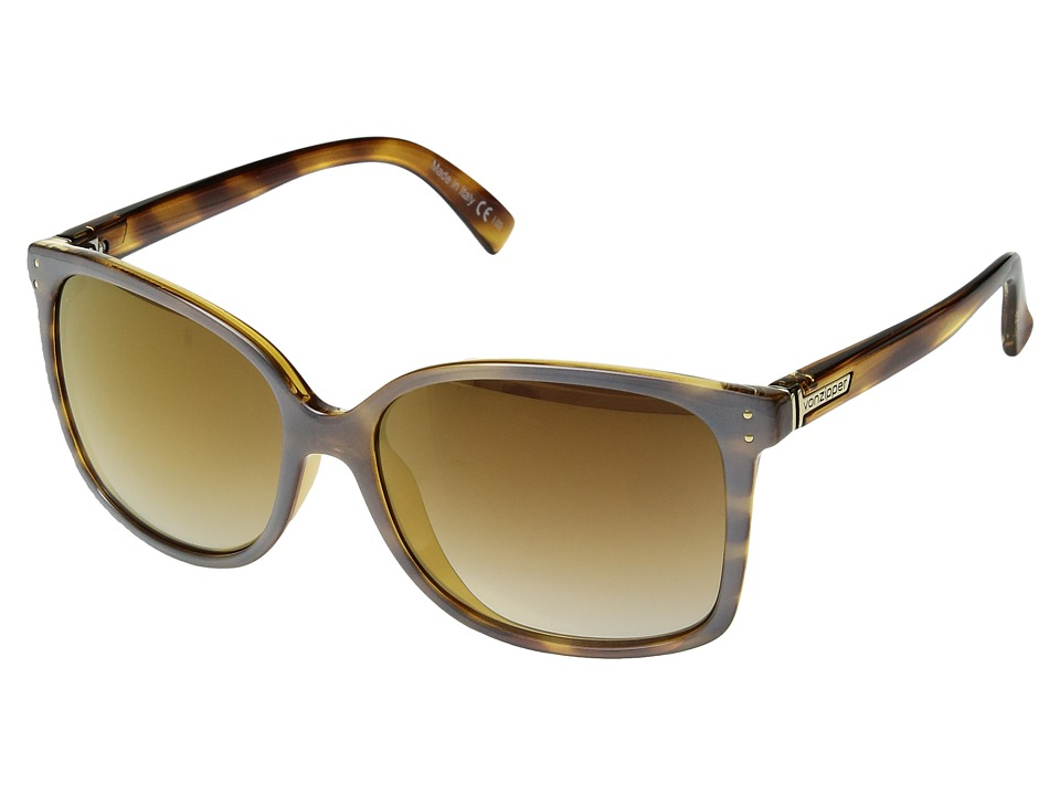 VonZipper - Castaway (Frosted Tortoise/Gold Chrome Grad) Sport Sunglasses