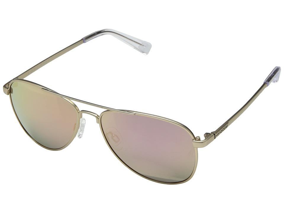 VonZipper Statey (Gold Satin/Rose Gold Chrome) Sport Sunglasses
