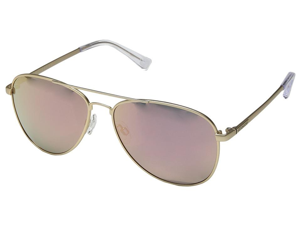 VonZipper Farva (Gold Satin/Rose Gold Chrome) Fashion Sunglasses