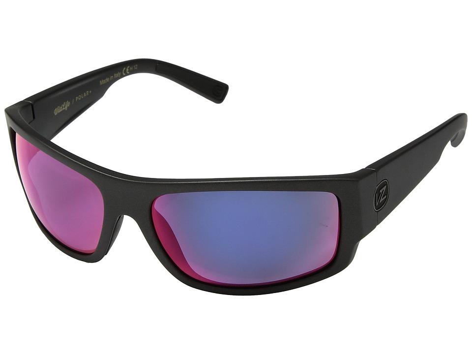 VonZipper Semi Polar (Graphite/Wild Plasma Chrome Polar Plus) Polarized Fashion Sunglasses