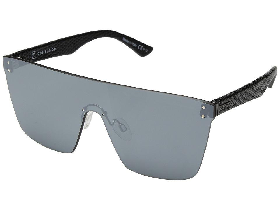VonZipper Alt-Donmega (Black Leather/Silver Chrome) Sport Sunglasses