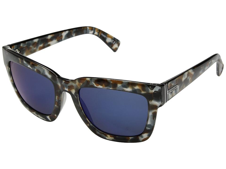 VonZipper Juice (Quartz Tort/Blue Chrome) Sport Sunglasses