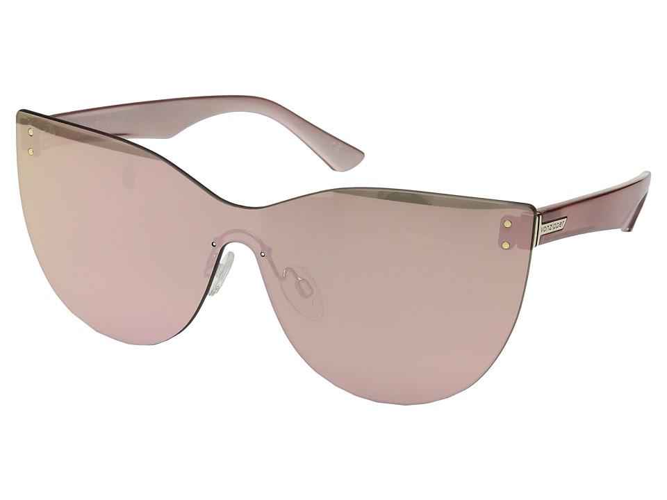 VonZipper Alt-Queenie (Rose Gold/Rose Gold Chrome) Athletic Performance Sport Sunglasses