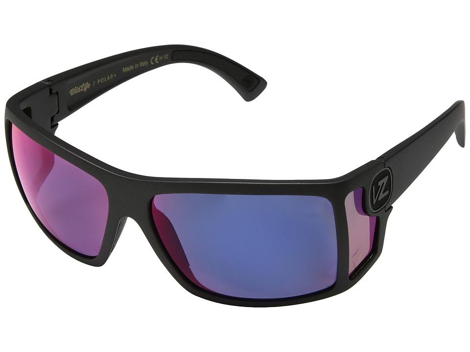 VonZipper Checko Polar (Graphite/Wild Plasma) Athletic Performance Sport Sunglasses