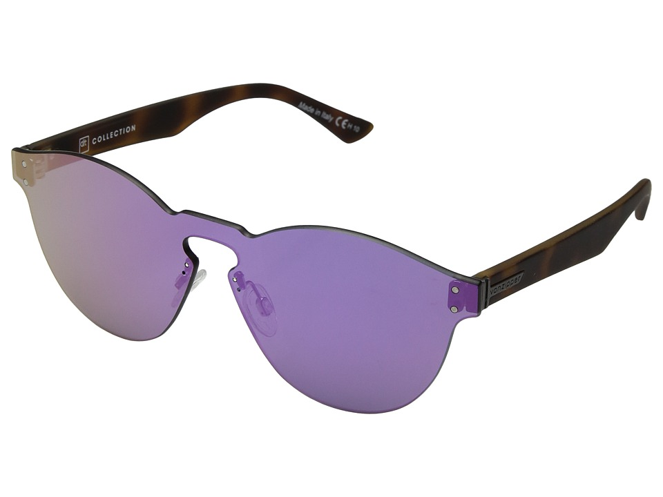 VonZipper Alt-Ditty (Tort Satin/Pink Chrome) Athletic Performance Sport Sunglasses