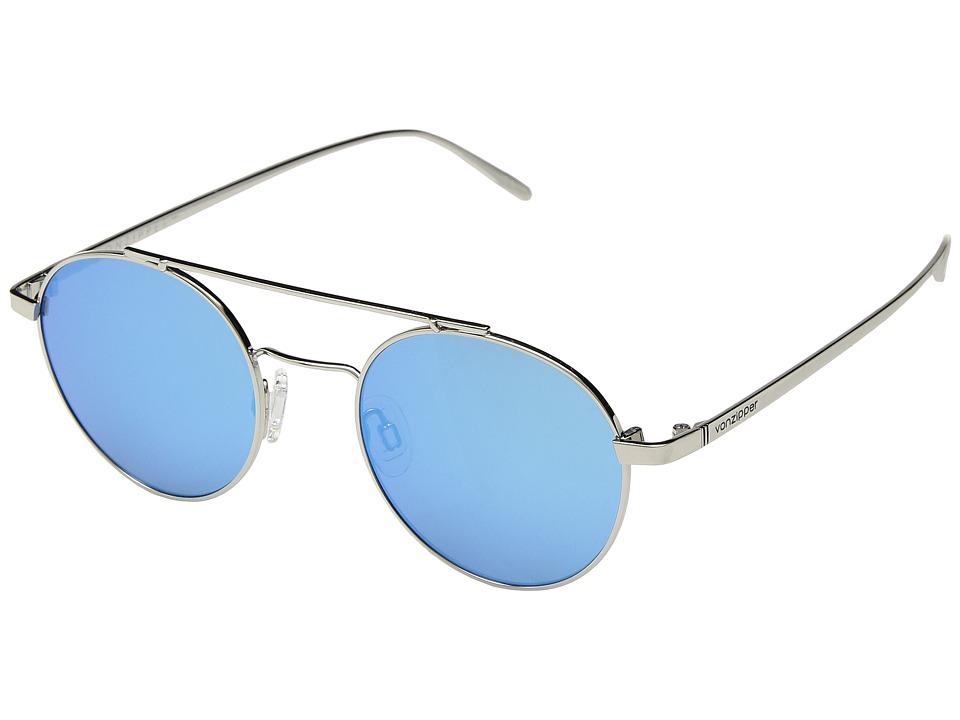 VonZipper Skiffle (Silver/Ice Chrome) Athletic Performance Sport Sunglasses
