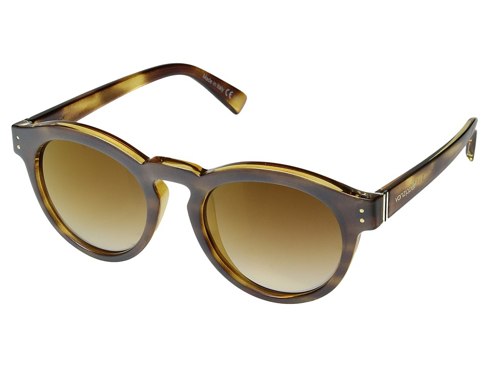VonZipper Ditty (Frosted Tortoise/Gold Chrome Grad) Athletic Performance Sport Sunglasses