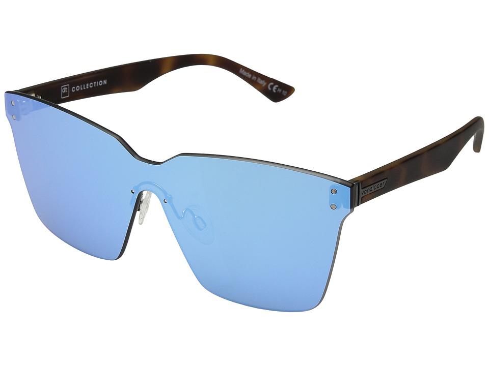 VonZipper Alt-Juice (Tortoise Satin/Sky Chrome) Athletic Performance Sport Sunglasses