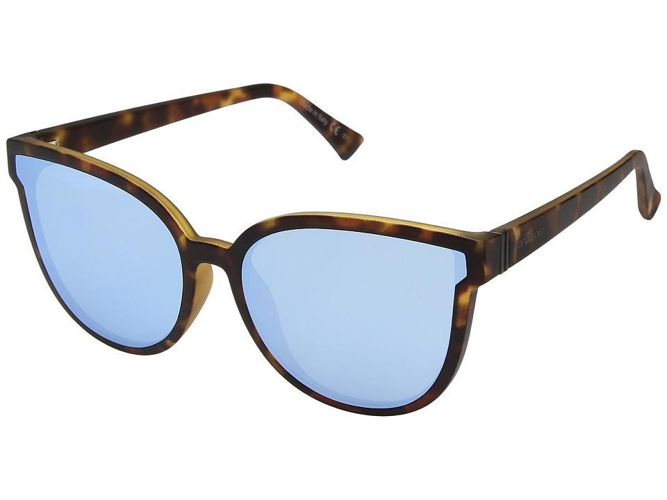 VonZipper Fairchild (Tort Satin/Sky Chrome) Athletic Performance Sport Sunglasses