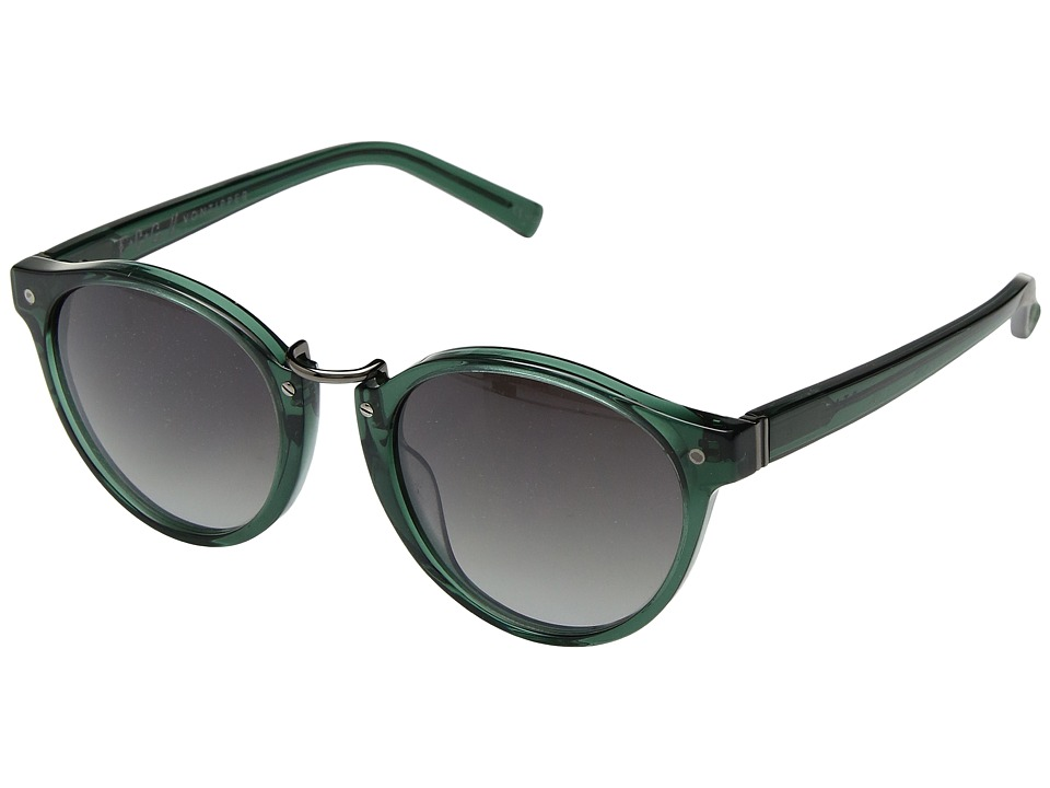 VonZipper Stax (Emerald/Grey Gradient) Athletic Performance Sport Sunglasses
