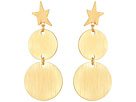 Rebecca Minkoff Star Girl Medallion Double Drop Earrings
