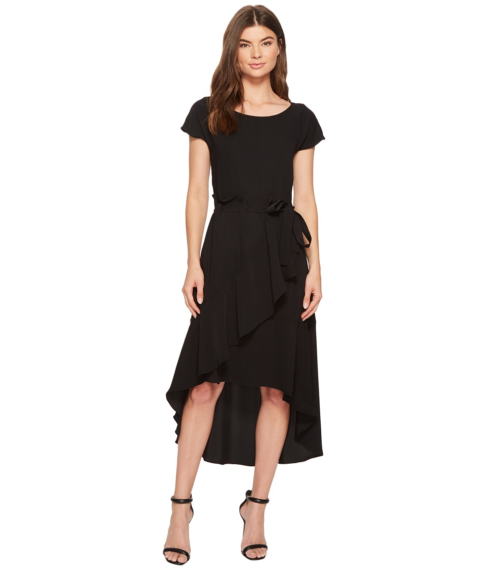 Laundry by Shelli Segal - Crepe Dress with Asymmetrical High