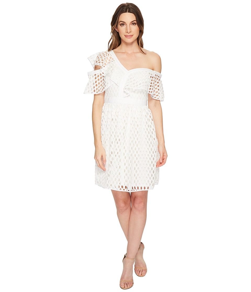 CeCe - Bardot - Off the Shoulder Ruffle Lace Dress (New Ivory) Womens Dress