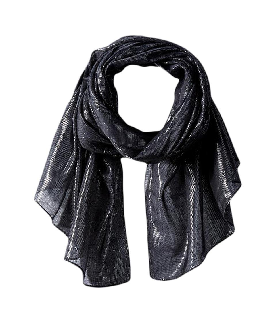 Calvin Klein - Liquid Lurex Oblong Scarf (Black) Scarves