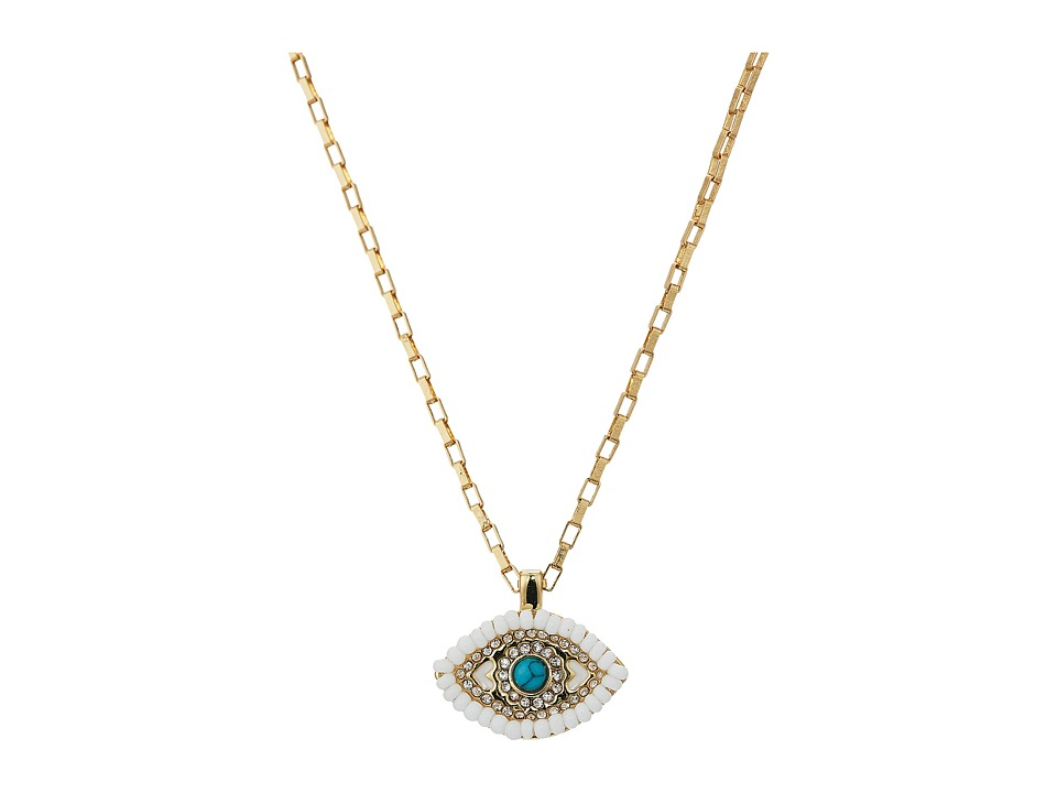 Rebecca Minkoff - Evil Eye Delicate Necklace (Gold 1) Necklace