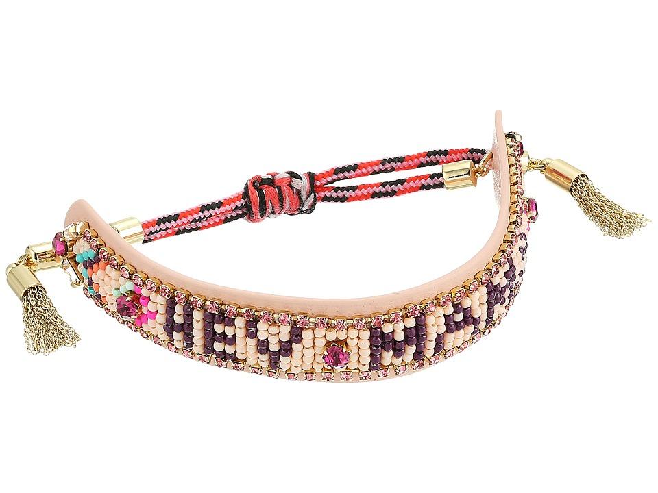 Rebecca Minkoff - Hey Mama Seed Beaded Friendship Bracelet (Pink/Orange) Bracelet