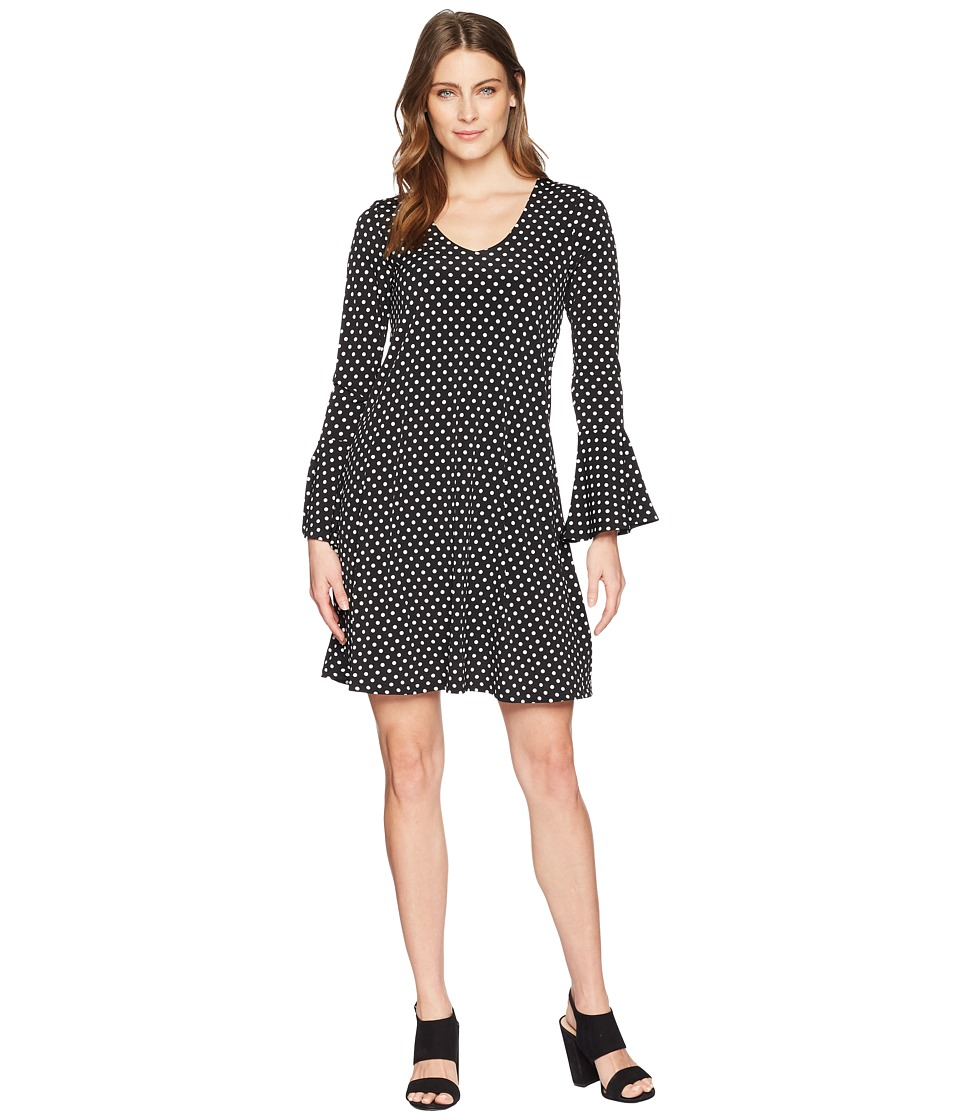 Karen Kane - Flare Sleeve Dress (Dot Print) Womens Dress