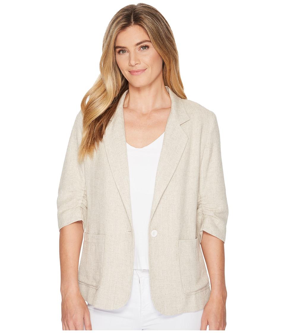 Karen Kane - Ruched Sleeve Jacket (Tan) Womens Jacket