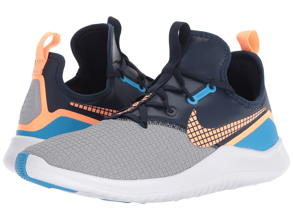 Nike Free TR 8 Neo (Wolf Grey/Orange Pulse/Blue Glow) Women's Cross Training Shoes