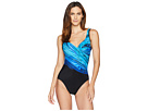 Miraclesuit Blue Pointe Its A Wrap One-Piece