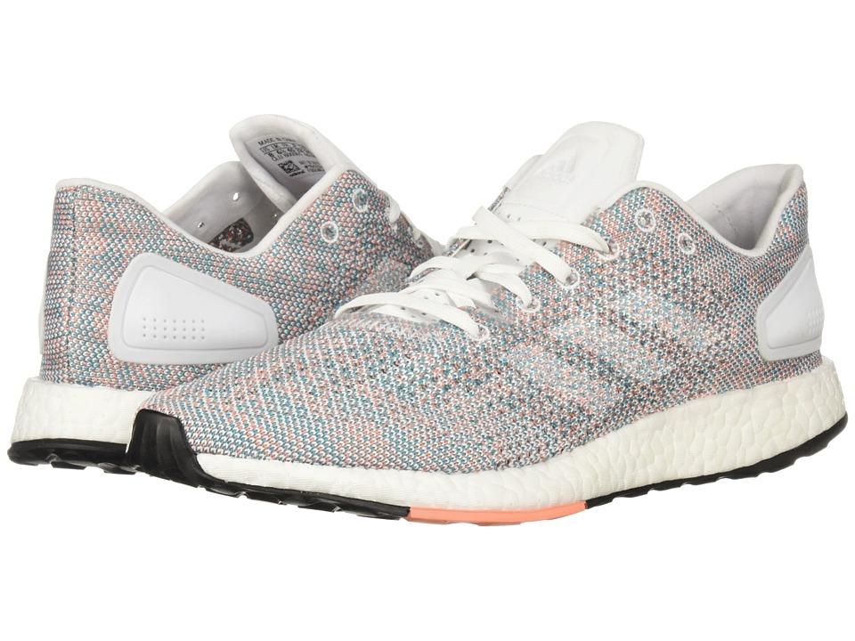 adidas Running PureBOOST DPR (White/White/Chalk Coral) Women's Shoes