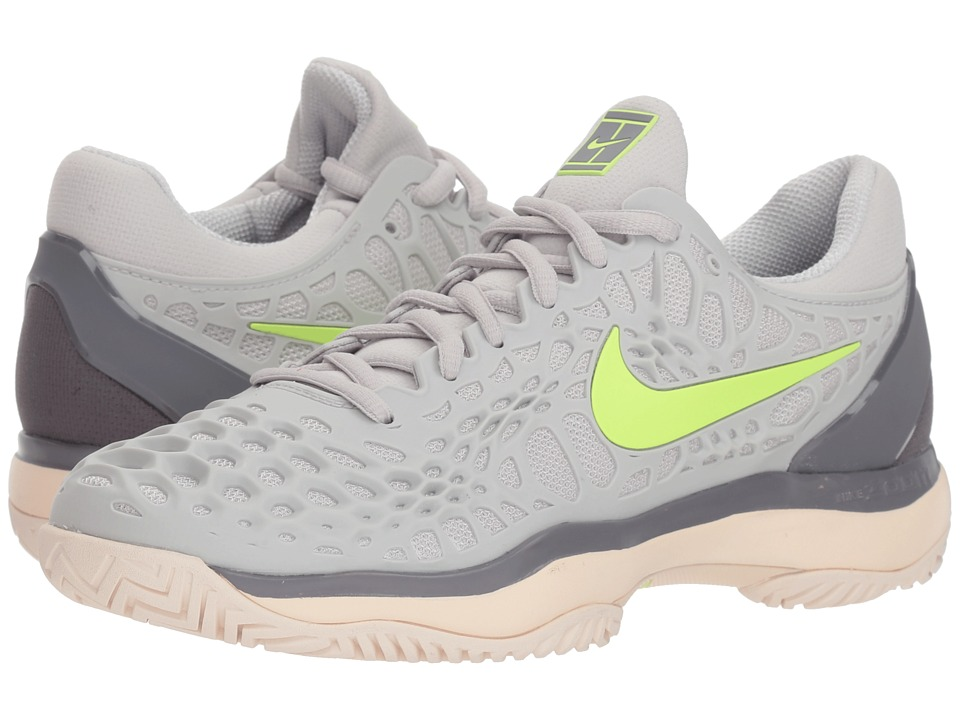 Nike Zoom Cage 3 HC (Vast Grey/Volt Glow/Gunsmoke/Guava Ice) Women's Tennis Shoes