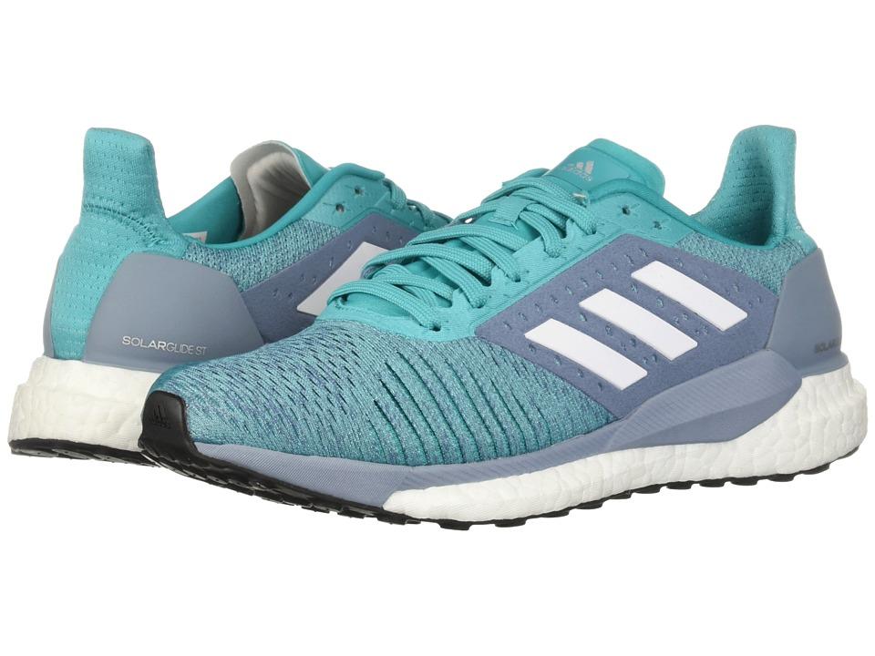 adidas Running Solar Glide ST (Hi-Res Aqua/White/Clear Mint) Women's Shoes