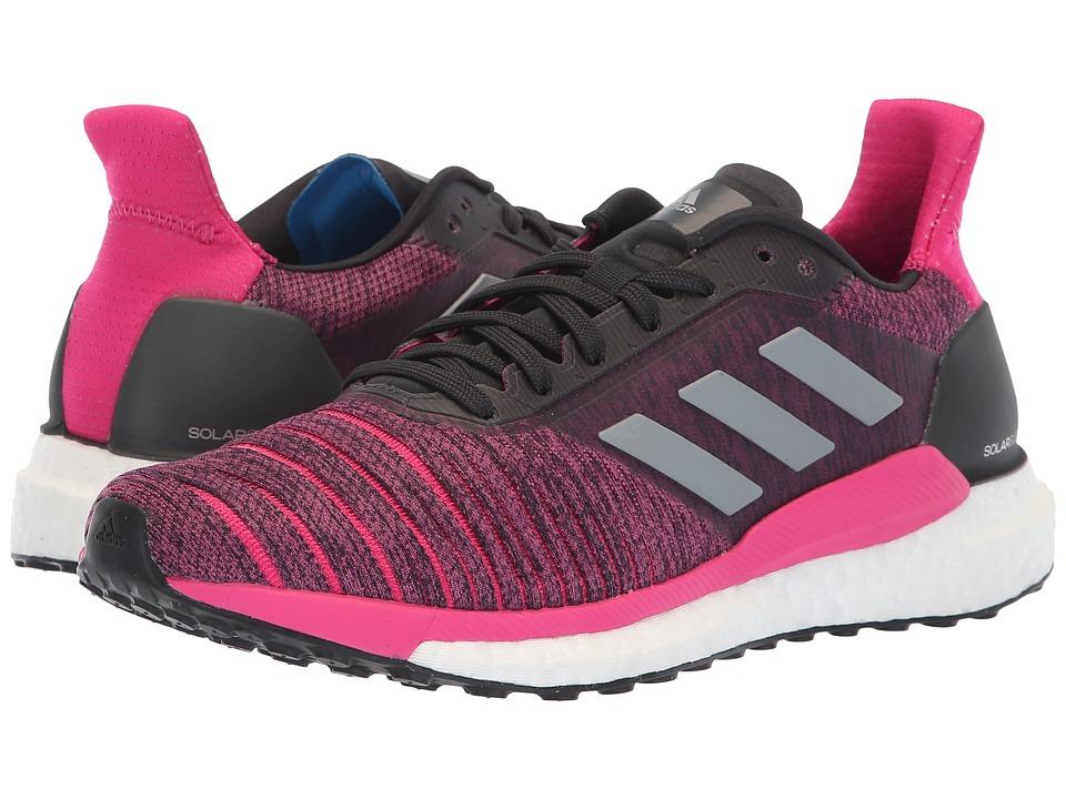 adidas Running Solar Glide (Carbon/Grey Three/Real Magenta) Women's Shoes