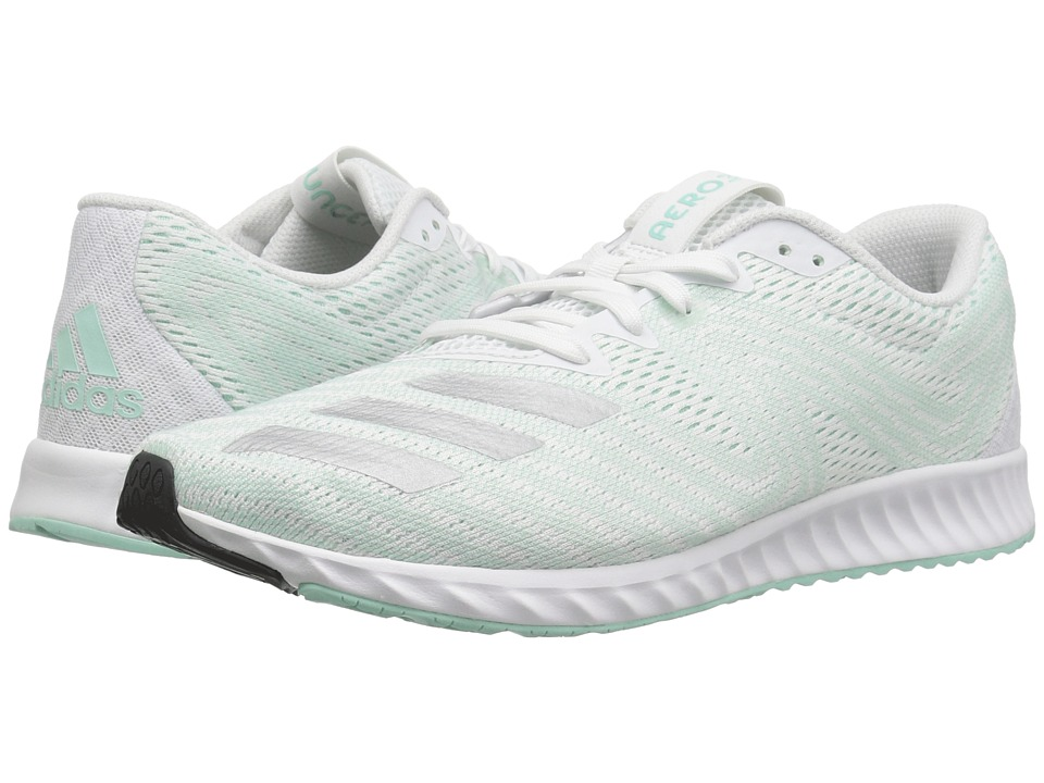 adidas Running Aerobounce PR (White/Silver Metallic/Clear Mint) Women's Running Shoes