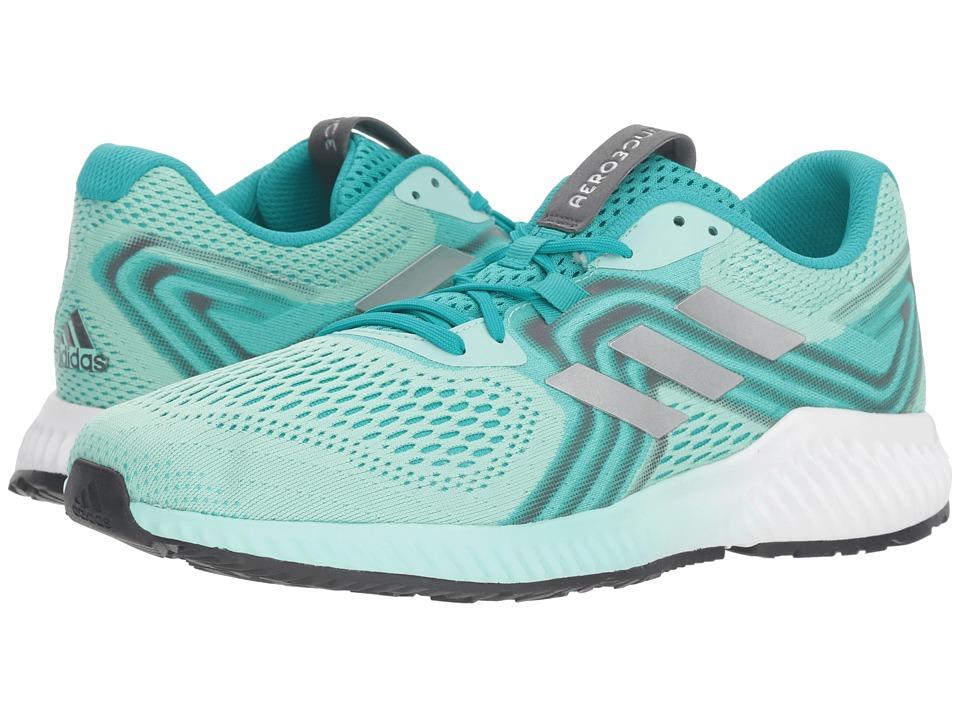 adidas Running Aerobounce (Hi-Res Aqua/Silver Metallic/Clear Mint) Women's Running Shoes