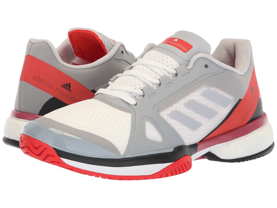 adidas aSMC Barricade Boost (Mid Grey/Mid Grey/Core Red) Women's Tennis Shoes