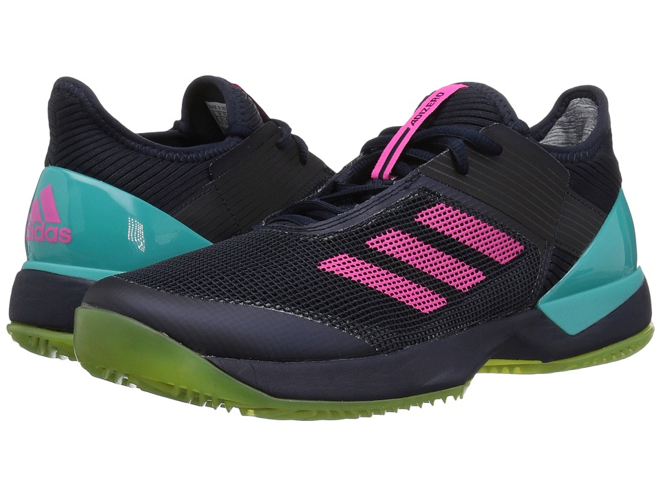 adidas Adizero Ubersonic 3 W Clay (Legend Ink/Shock Pink/Hi-Res Aqua) Women's Shoes