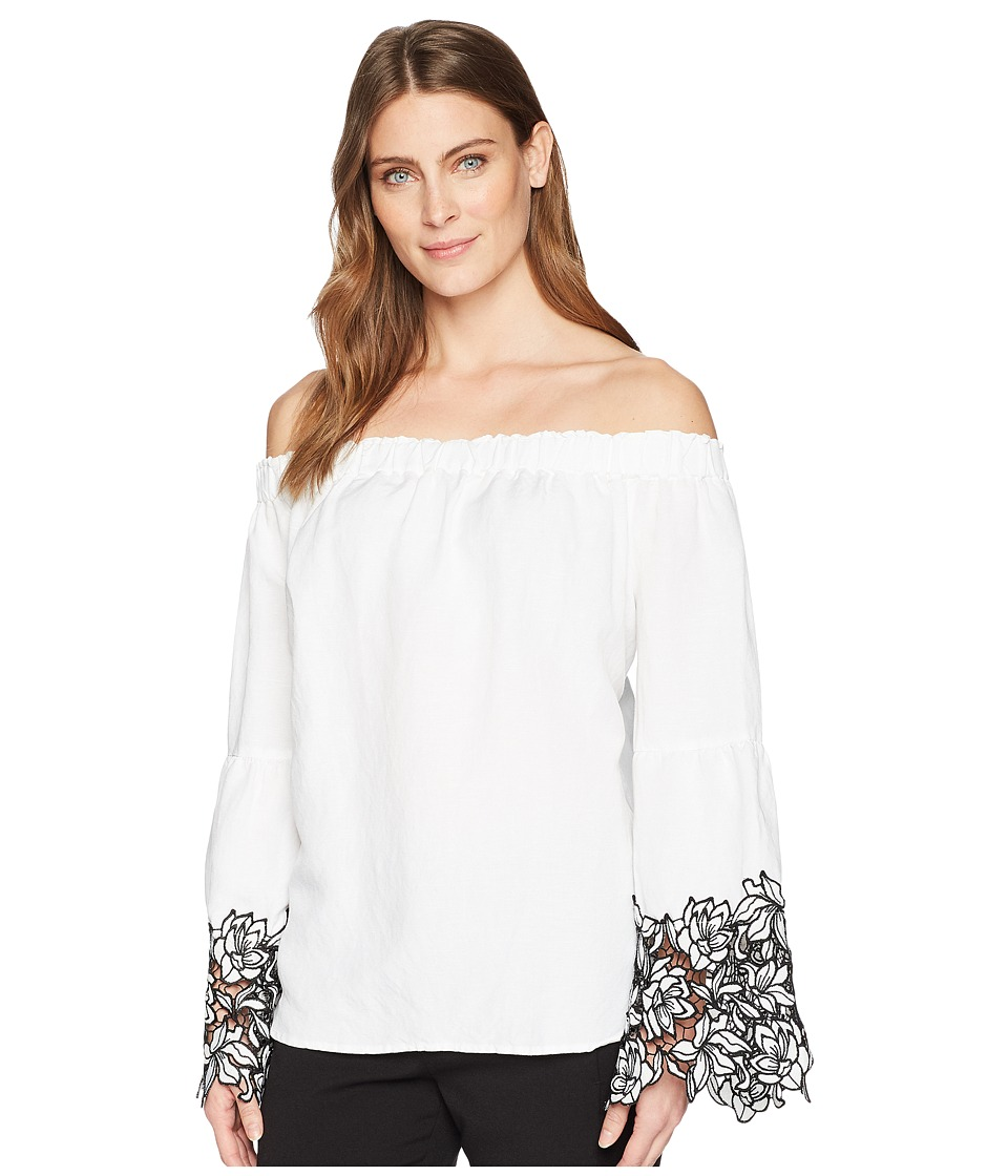 Karen Kane - Off the Shoulder Top (Off-White) Womens Blouse