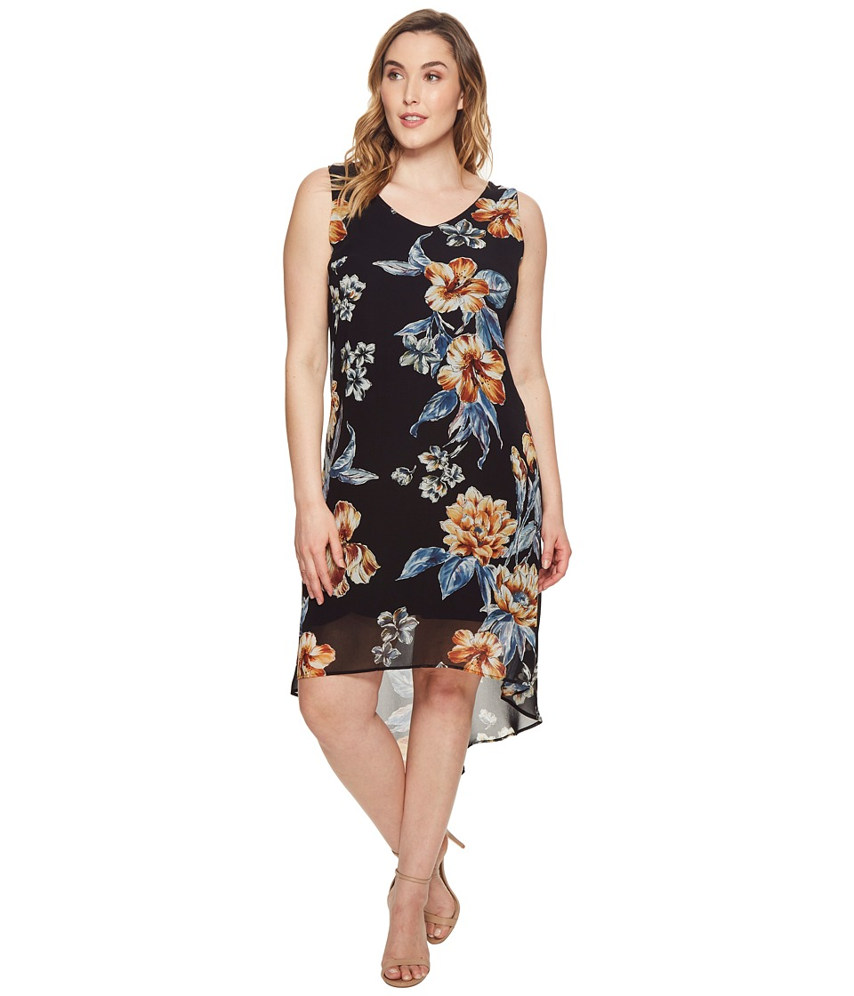 Karen Kane Plus - Plus Size High-Low Hem Dress (Print) Womens Dress