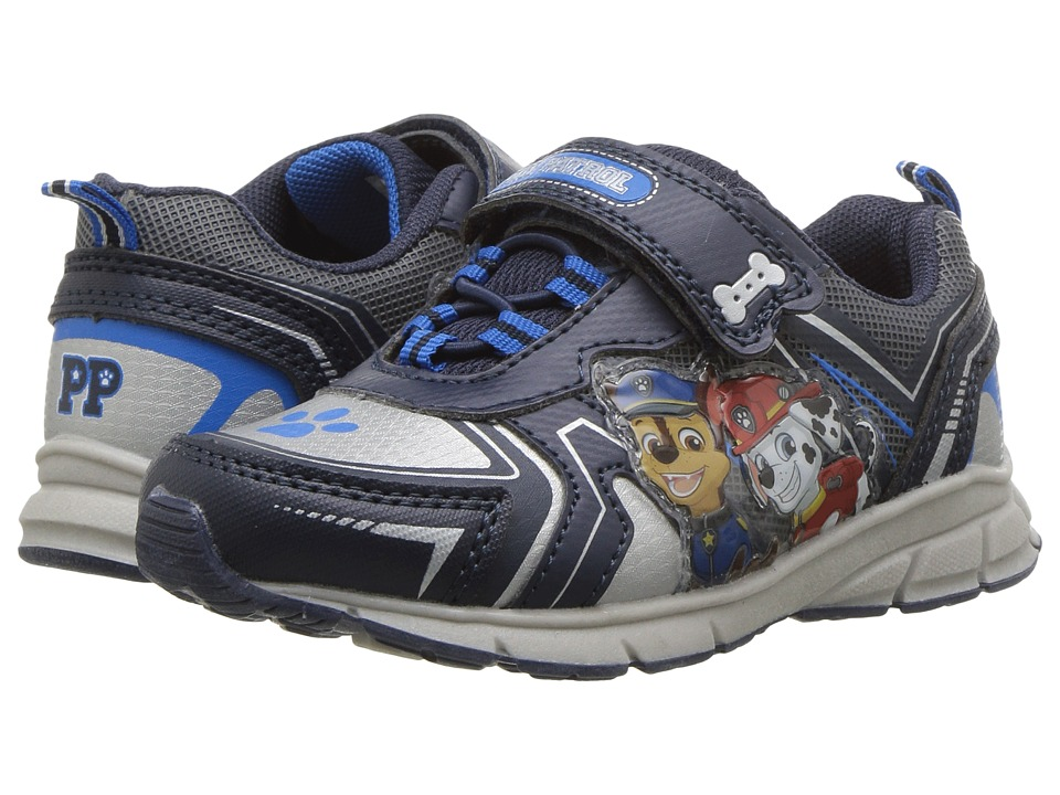 Josmo Kids - Paw Patrol Lighted Sneaker (Toddler/Little Kid) (Navy/Silver) Boys Shoes