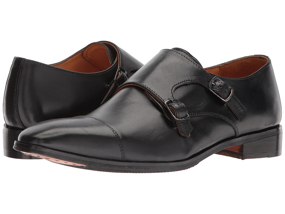 CARLOS by Carlos Santana - Passion (Black Full Grain Calfskin Leather) Mens Shoes