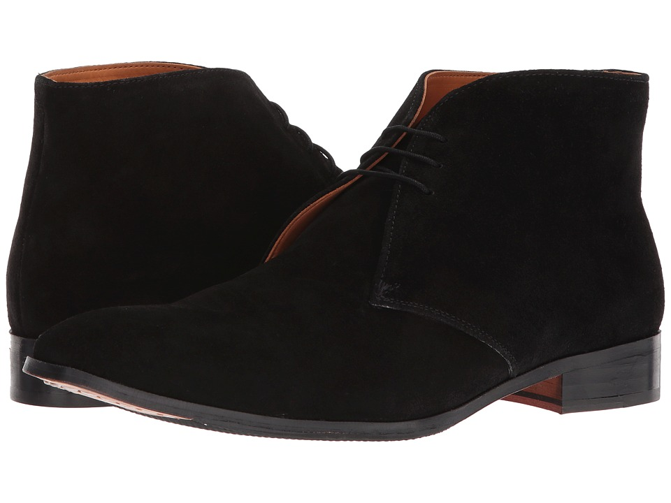 CARLOS by Carlos Santana - Corazon (Black Calfskin Suede) Mens Lace-up Boots
