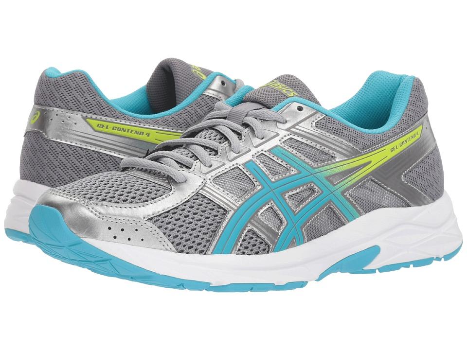 ASICS GEL-Contend 4 (Silver/Aquamarine/Sharp Green) Women's Running Shoes