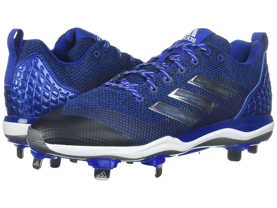 adidas PowerAlley 5 (Collegiate Royal/Silver Metallic/Footwear White) Women's Cleated Shoes
