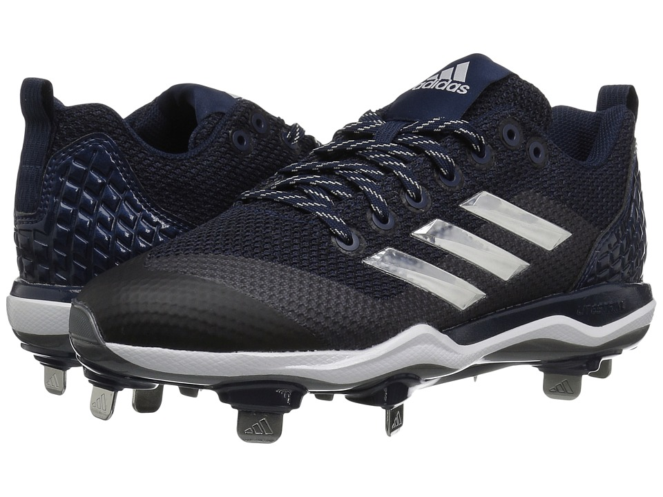 adidas PowerAlley 5 (Collegiate Navy/Silver Metallic/Footwear White) Women's Cleated Shoes