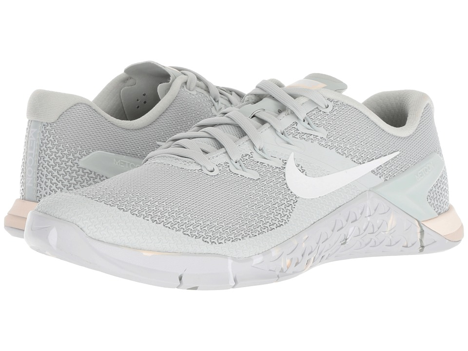 Nike Metcon 4 (Light Silver/White/Guava Ice/Mica Green) Women's Shoes
