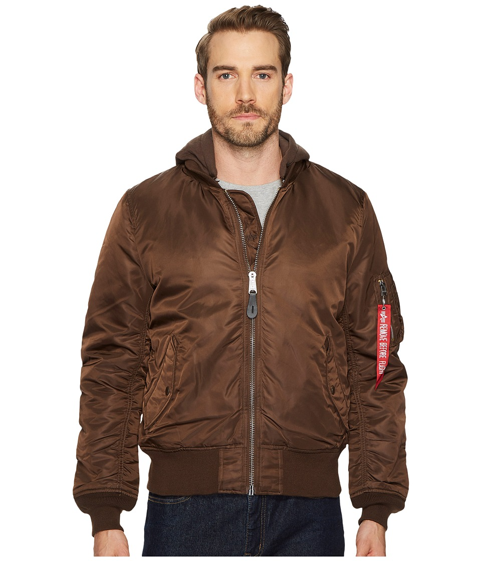 1960s Men's Clothing, 70s Men's Fashion Alpha Industries - MA-1 Natus Jacket Cocoa Mens Coat $132.99 AT vintagedancer.com