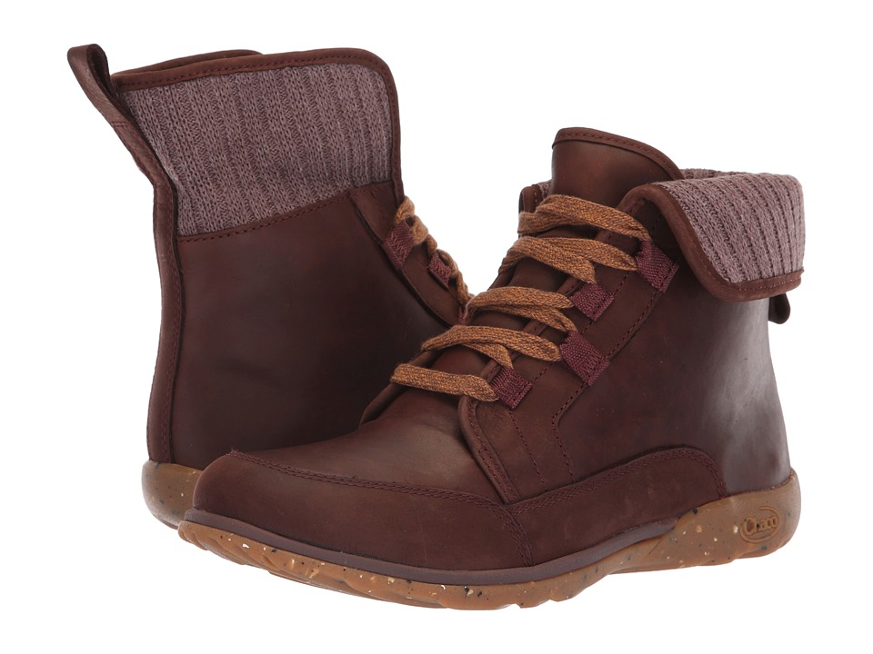 Chaco Barbary (Mahogany) Women's Lace-up Boots