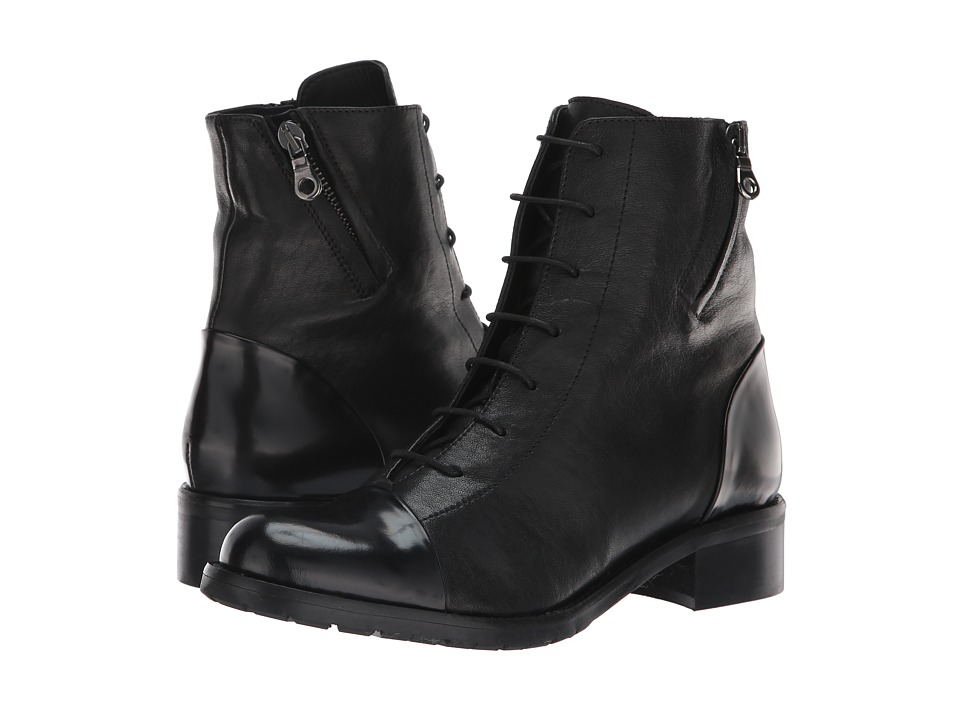 La Canadienne Manning (Black Leather) Women's Dress Lace-up Boots