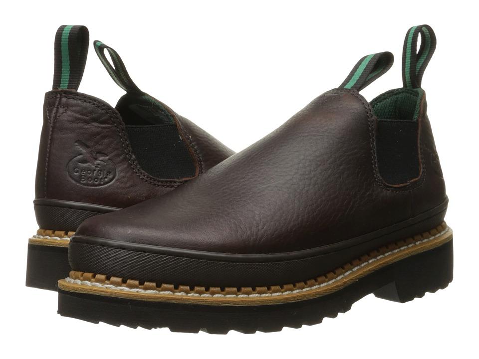 Georgia Boot GR262 Georgia Giant Romeo Brown Mens Slip on Shoes