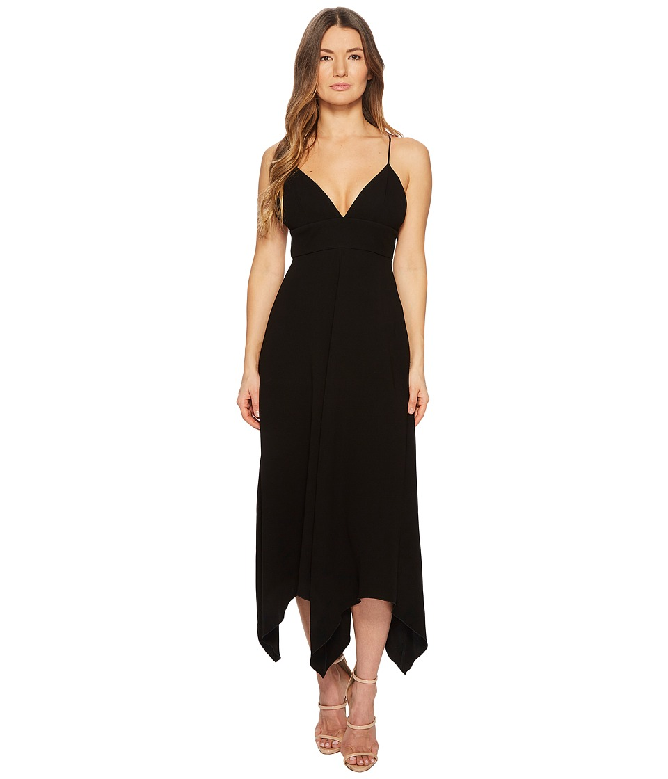 Boutique Moschino - Crepe Maxi Dress with Sweetheart Neck and Open Back (Black) Womens Dress