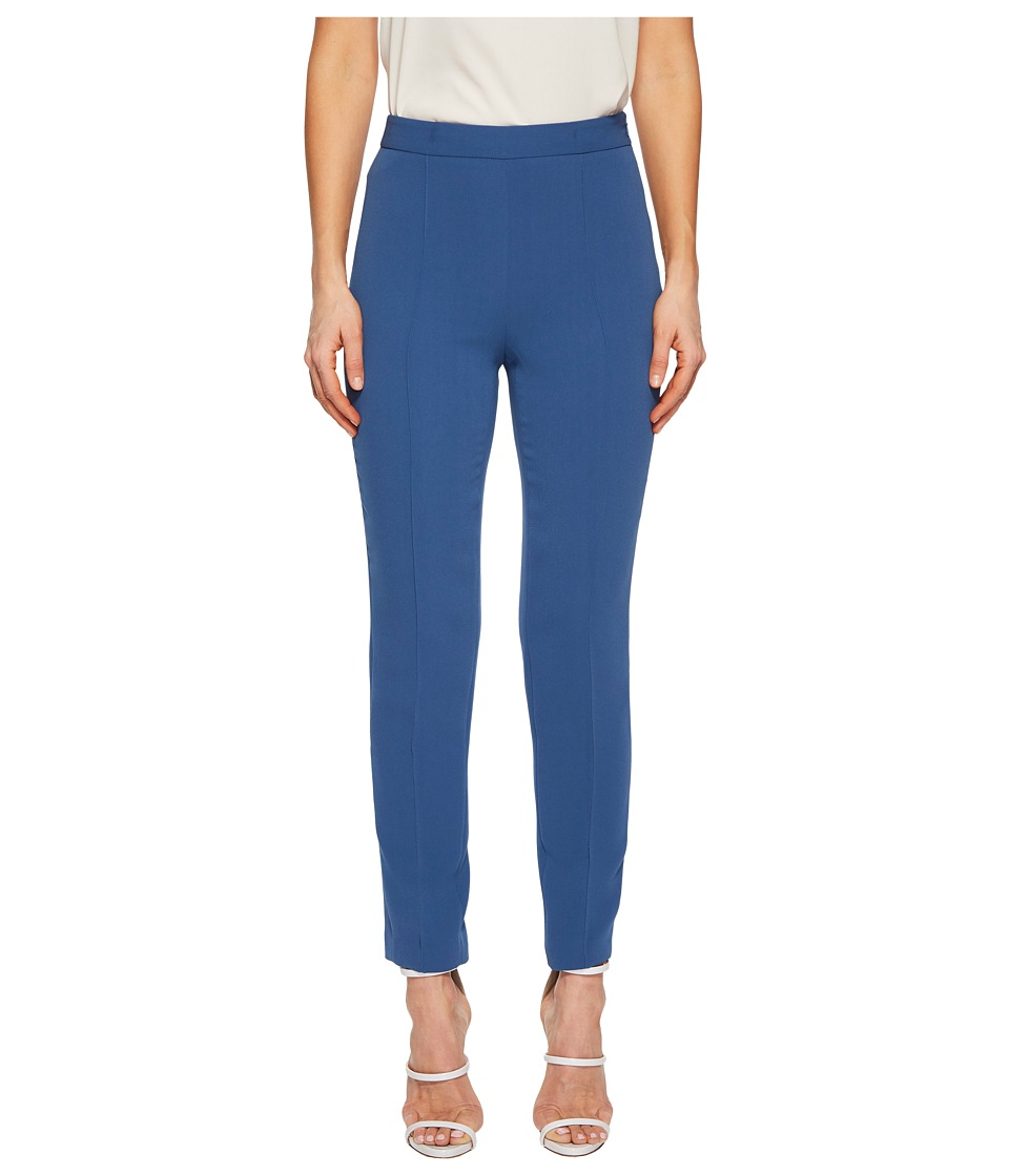 Boutique Moschino - Cropped Dress Pants (Blue) Womens Casual Pants