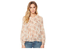 Lucky Brand Pink Exploded Floral Top
